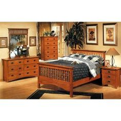 Mission Style Bedroom Furniture 5 Piece Set 3291 Co