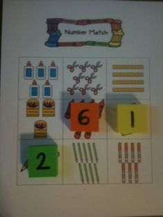 Number Bingo - number sense and counting game.