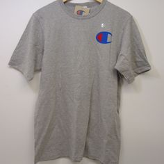 db837f892c2a5 New Champion Mens Gray Heritage Signature Chest Logo Short Sleeve T-Shirt  Medium  Champion