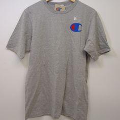 de14d88b3 New Champion Mens Gray Heritage Signature Chest Logo Short Sleeve T-Shirt  Medium #Champion