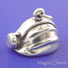 MINER'S HELMET Charm Hard Hat Coal Mine Mining by magickcharms