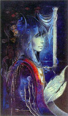 Susan Seddon Boulet - Goddesses « The High Priestess » - 1984 La Grande Prêtresse est la représentante directe de la déesse sur terre. Elle prend en charge toutes les activités qui assurent la fertilité et la continuité de la création.