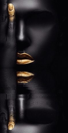 Black And Gold Theme, Black Love Art, Abstract Iphone Wallpaper, Apple Wallpaper, Abstract Art Images, Black Art Painting, Bold Lipstick, Or Noir, Gold Wall Art