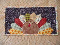 Turkey mug rug  by scrapnchick, via Flickr