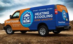 Branding and fleet wrap design for HVAC company in St. Louis, MO. #fleetbranding