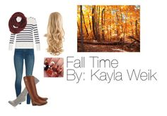"""Fall time"" by kaylaweik on Polyvore featuring J Brand, A.P.C., Paula Bianco, Hue and Tory Burch"