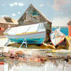 Josef Kote Original Acrylics on Canvas - Morning Delight Mystic Seaport
