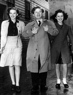 Judy Garland, Mickey Rooney and Shirley Temple at MGM Studios - 1941