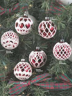 Elegant Ornaments free-crochet.com - free membership to access hundreds of crochet patterns