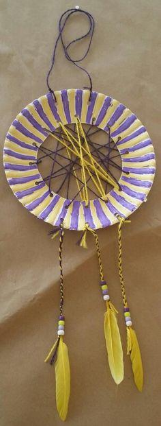 Paper plate dream catcher! & Make these beautiful paper plate dream catchers with your children ...