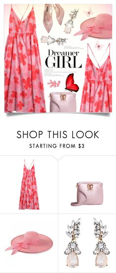 """""""Color Me Pretty: Head-to-Toe Pink"""" by meyli-meyli ❤ liked on Polyvore featuring H&M and Dolce&Gabbana"""