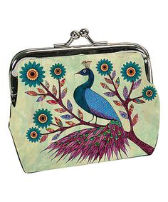 Love this Blue Peacock Snap Coin Purse by Passion for Fashion on #zulily! #zulilyfinds