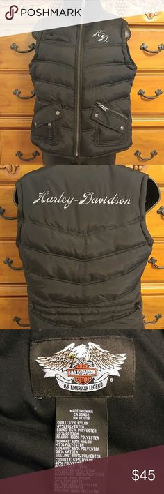 Women's puffy Harley Davidson Vest Never worn excellent condition! Very warm☺ Harley-Davidson Jackets & Coats Vests