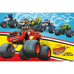 Wall Poster - Blaze and the Monster Machines - Great for Party Decorations