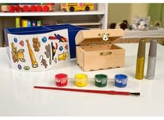 Melissa and Doug Decorate Your Own Wooden Treasure Chest | Whish.ca