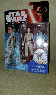 "Star Wars Figure EP7 Force Awakens 3.75"" Forest Mission Rey Starkiller Base in Toys & Hobbies, Action Figures, TV, Movie & Video Games 