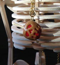 Poisoned Caramel Apple Snow White Enchanted Polymer Clay Charm on Etsy, $15.00