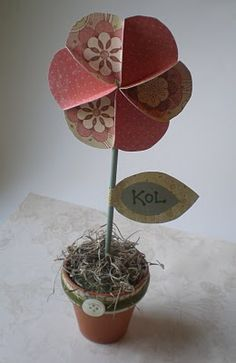 Paper Wheel Accessory Tutorial.  I;m making this for the shelf in my guest room.