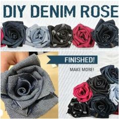 Denim Do Over | Denim Roses Crafted From Recycled Jeans | http://www.denimdoover.com