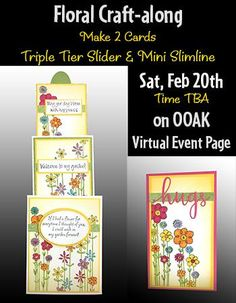 February 20th - CRAFT ALONG Virtual Event Project List – Paper Craft Conference Scrapbook Expo, Bee Creative, Project List, Event Page, Close To My Heart, Paper Cutting, Sliders, Paper Crafts, Conference