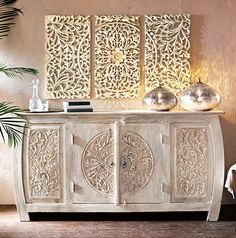 This Beautiful Cabinet Is Hand Crafted By Indonesian