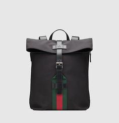 Gucci - black techno canvas backpack 337075KWT6N1060