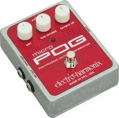 Electro-HarmonixXO Micro POG Polyphonic Octave Generator Guitar Effects Pedal