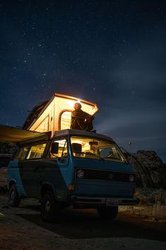 """""""Sierra Nights"""" by Tommy Lisbin: Volkswagen Vanagon camper in Alabama Hills, USA"""