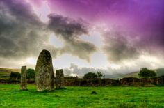 Irish stone circle. West Cork