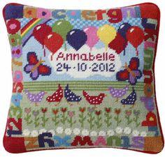 Balloons Birth Sampler Tapestry Kit