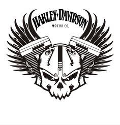 Bildergebnis für Harley-Davidson-Schablonenmuster - I Love Motorrad Harley Davidson Knucklehead, Harley Davidson Logo, Harley Davidson Kunst, Harley Davidson Seats, Harley Davidson Kleidung, Classic Harley Davidson, Harley Davidson Chopper, Harley Davidson Motorcycles, Stencil Patterns