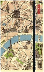 Paris, France Map {this is framed in my living room}