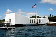 USS Arizona Memorial,She was sunk on Dec. 7 1941 when the Japanese attack Pearl Harbor.