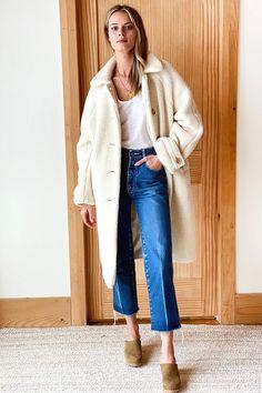 Matisse Coat - Ivory Sherpa - Emerson Fry