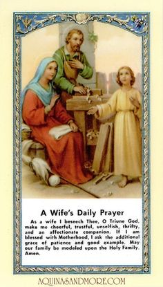 Ten Rules for a Happy and Successful Wife Prayer Card  by Gods grace one day soon