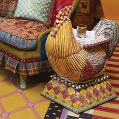 Rooster Braided Rug From Seventh Avenue 174 Roosters And
