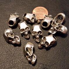 Antiqued Silver Elder Skull Dread Bead (1pc)