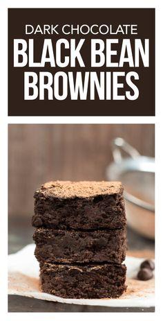 Healthy Dessert Ideas: Dark Chocolate Black Bean Brownies - All Fitness Healthy Brownies, Healthy Treats, Healthy Desserts, Delicious Desserts, Healthy Recipes, Healthy Munchies, Healthy Foods, Healthy Eating, Great Recipes