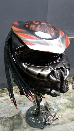 79d18137 Custom Predator Helmet Street fighter style (DOT Approved) Free Shipping # HandMade #Predator