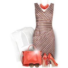 ❊ Dress Up Your Dots ❊ by hrfost1210 on Polyvore featuring Phase Eight, Narciso Rodriguez, Nicholas Kirkwood, Nina Ricci, Bulgari, coral, Pumps, PolkaDots and sunnies