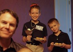"""Get the kids involved in the anniversary--have them be waiters in your home """"restaurant""""."""