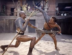 Spartacus (1960) - Kirk Douglas and Woody Strode