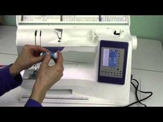 Husqvarna Viking Sapphire 960 04 Threading & Machine Set Up - YouTube