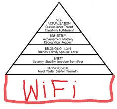 Maslow's hierarchy of needs, updated for the 21st century.