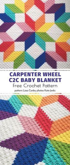 Crochet Quilt Pattern, C2c Crochet Blanket, Graph Crochet, Pixel Crochet, Crochet Gratis, Rainbow Crochet, Crochet Stitches, Free Crochet, Crochet Afghans