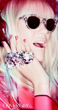 EDM DJ and COVERGIRL Liv of NERVO complements her bling with NEW Outlast Stay Brilliant Nail Gloss.
