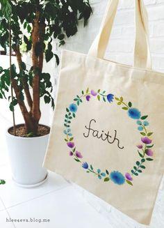 #Calligraphy #art #ecobag #canvasbag #faith #summer #tote #bag #캘리그라피 #캘리 #캔버스백 #세상에 #단하나뿐인 #에코백 #꽃리스 #믿음 #리효 #여름가방 #6월30일까지