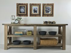 A personal favorite from my Etsy shop https://www.etsy.com/listing/453184052/rustic-chic-sofa-table-modern-farmhouse
