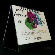 Calendário de mesa personalizado 2015. FLORES. LOJA THE+ www.themais.com.br