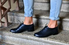 Drake Oxford de cuero para mujer Classic zapatos por JuliaBoShoes